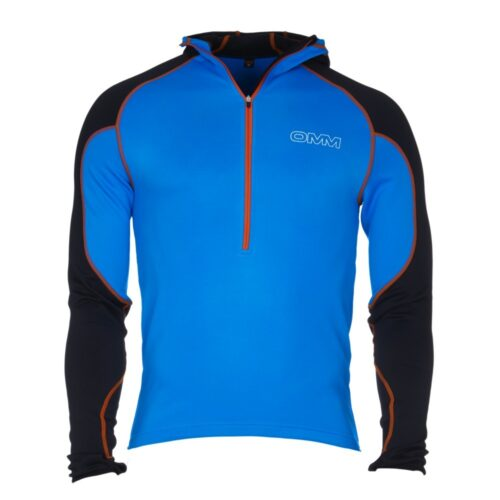 Blue Sports Running Half Zip Warm Windproof Breathable OMM Mens Rotor Vest