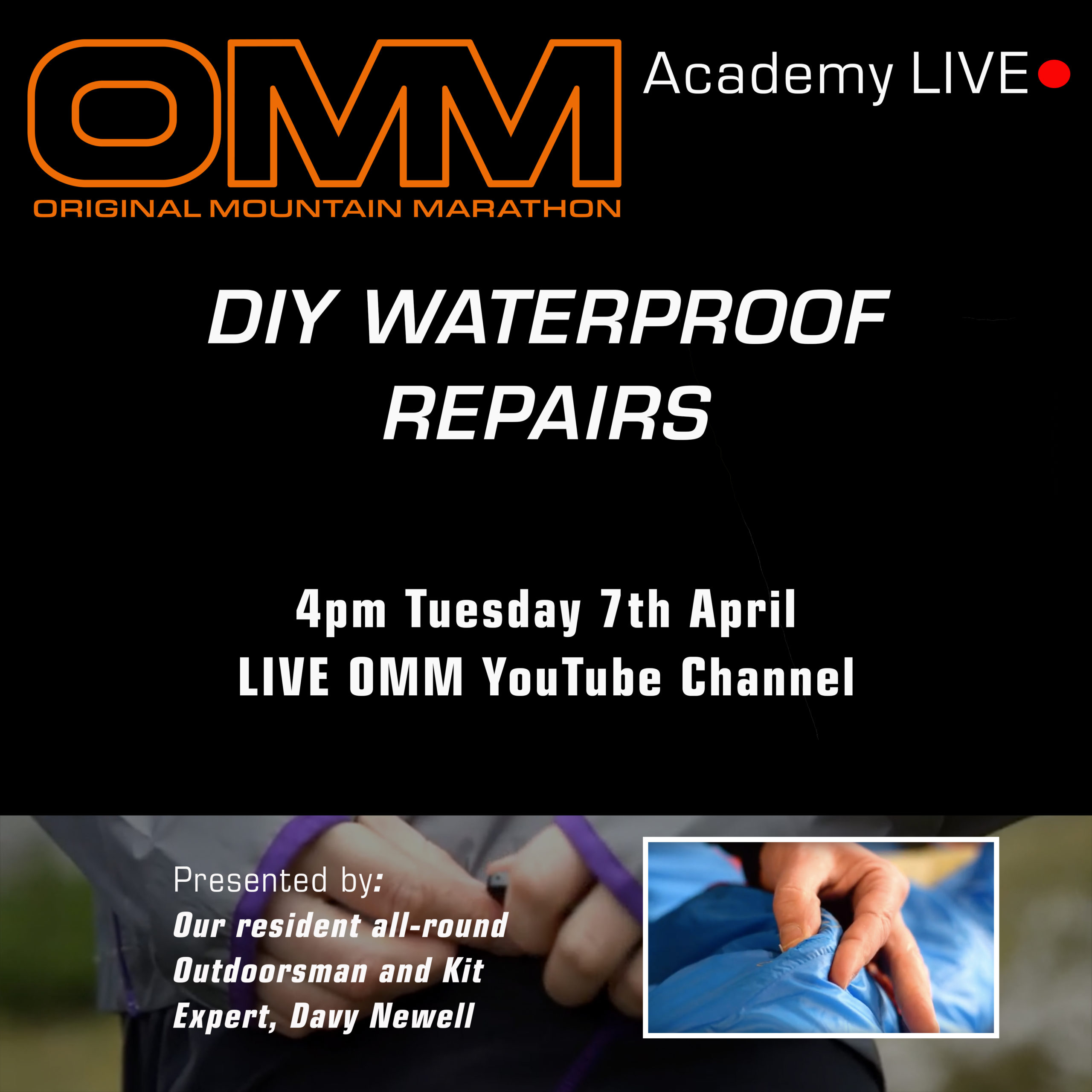 OMM Academy: DIY Waterproof Repairs